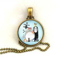 10% SALE Necklace Japanese Cartoon Collection Totoro Spirited Away Miyazaki Art Pendant Gift. £7.69, via Etsy.