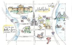 LoveLee | illustrations and designs | philadelphia wedding map