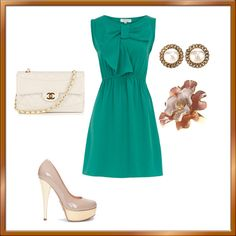 Classy Green, created by vebullock on Polyvore
