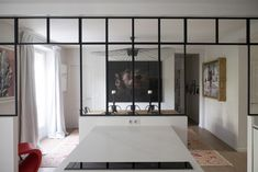 glass dividing wall - Google Search Oversized Mirror, Divider, Dividing Wall, Glass, Interior, Room, Furniture, Images, Google Search