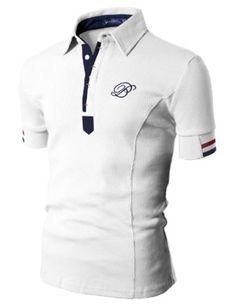 Doublju Mens Polo T-shirts with Short Sleeve Mens Polo T Shirts, Mens Designer Shirts, Le Polo, New Outfits, Shirt Designs, Men Casual, Menswear, Mens Fashion, Mens Tops