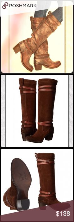 Spotted while shopping on Poshmark: NIB Frye Jane Strappy tall boots! #poshmark #fashion #shopping #style #Frye #Shoes