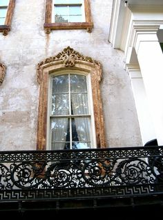 Love this beautiful window and balcony!!