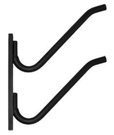 """Gatekeeper On Rail SUP 2 Board Wall Rack by Gatekeeper. $109.99. Sturdy 1 inch (25.4mm) diameter tubular steel support arms. Installation fasteners (1/4 x 3"""" lags and flat washers for stud mounting). Powdercoated finish - color: matte black. All-steel, welded construction. High quality nitrile foam cushioning to protect your board's finish. The Gatekeeper On Rail 2 Board Rack safely stores your surfboards, while beautifully displaying the decks or hulls. The supp..."""