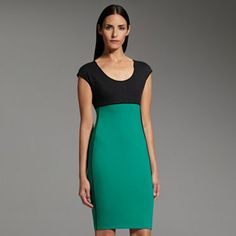Kohl's Narcisco Rodriguez.  I wore this color block dress in red for Christmas.