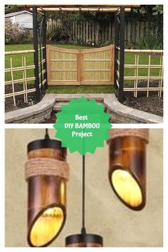Amazing Bamboo Decoration Ideas #bamboo Bamboo Ideas, Bamboo Crafts, Bamboo Decoration, Craft Projects, Easy Diy, The Incredibles, Farming, Amazing, Garden