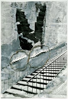 Anselm Kiefer, Oroborus 2002. Painted photograph, 45 x 30-3/4 inches