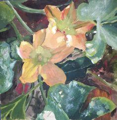 Si me das calabazas te doy una flor, acrilico sobre tabla, by MODE