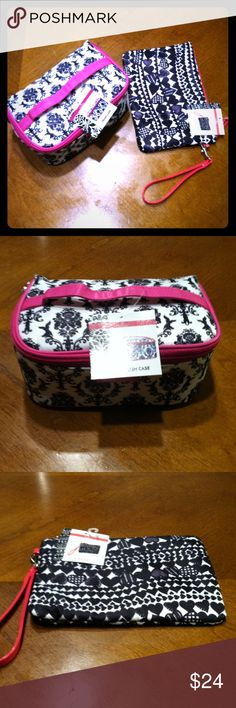 Cosmetic case & cosmetic wristlet Cosmetic bag & cosmetic wristlet. Get 2 for the price of one.  What a great deal for the girl on the go. Bundle discount or make an offer Modella Bags Cosmetic Bags & Cases