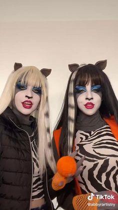 Monster High Cosplay, Monster High Makeup, Cool Makeup Looks, Creative Makeup Looks, Crazy Makeup, Edgy Makeup, Makeup Art, Personajes Monster High, Amazing Halloween Makeup