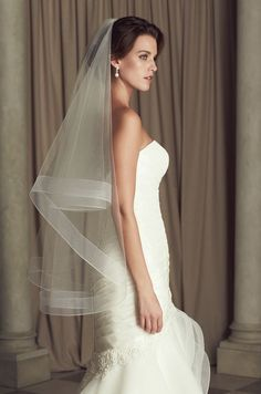 Promotion Bridal Veils White Ribbon Edge Two-Layer New Short Wedding Veils Bridal Accessories veu de noiva