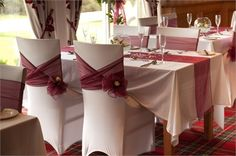 Different way of tying the chair sash ribbons