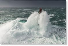 Awakening: Lighthouse is swamped by 160ft waves in Quessant, ...