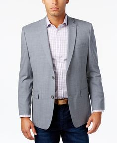Marc New York by Andrew Marc Men's Classic-Fit Gray/Blue Check Sport Coat