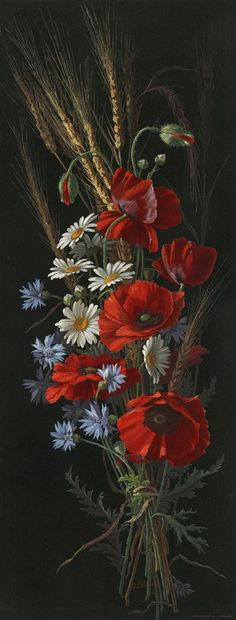poppies and daisies Más