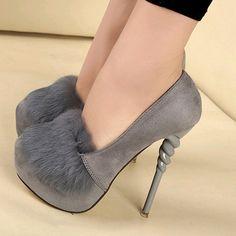 32.29$  Buy now - https://alitems.com/g/1e8d114494b01f4c715516525dc3e8/?i=5&ulp=https%3A%2F%2Fwww.aliexpress.com%2Fitem%2FSpring-Faux-Fur-High-Heel-Platform-Shoes-Women-Pumps-Suede-Thin-Heels-Zapatos-Mujer%2F32781255437.html - Spring Faux Fur High Heel Platform Shoes Women Pumps Suede Thin Heels Zapatos Mujer