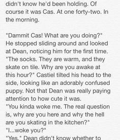 """Destiel: Closets and Cuddles"" 2/23 // Written by The Tardis-Impala"