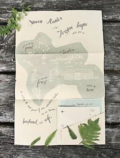 nature-inspired wedding invitations.