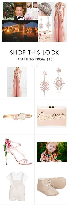 """""""Jana, Paul, Natalie and Felix Winter at the wedding of Alexander and Fiona Winter"""" by charlottedebora ❤ liked on Polyvore featuring Needle & Thread, Anne Sisteron, Pasquale Bruni, BCBGMAXAZRIA and Dolce&Gabbana"""
