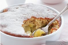 Serve warm apple pudding with creamy smooth ice-cream for an indulgent autumn dessert.