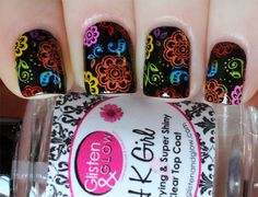 After seeing a bunch of awesome nail art tutorials on YouTube, I finally caved and bought some Mundo de Unas stamping polishes. And holy crap am I glad I did! I bought the Confetti stamping set and...