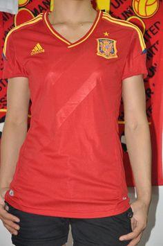 Spain home women soccer jerseys