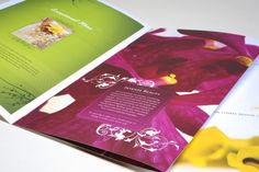 Brochure Design Portfolio The Flower Studio  Graphic Design