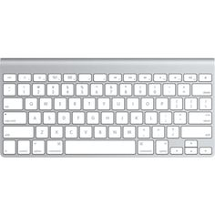 Apple Wireless Keyboard - English - Apple Store (U.S.)Does not have number pad nor function keys, but apparently some functions can be done another way.