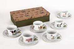 A Loja do Gato Preto | Conjunto de 6 Chávenas de Chá #alojadogatopreto