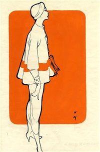 René Gruau Dress by Givenchy, 1953