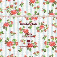 mizeedraw / birth / rose / flower / pattern / spring