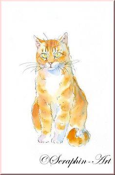 Katze Aquarell Zeichnung 2012-12-066