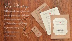 Eco Vintage - ciekawe zaproszenia ślubne ekologiczne eco