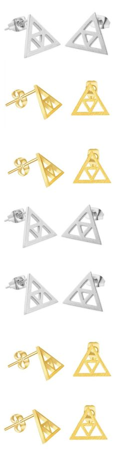 Legend of Zelda TriForce Stud Earrings! Click The Image To Buy It Now or Tag Someone You Want To Buy This For. #LegendOfZelda