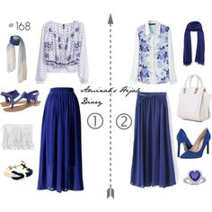 Aminah´s Hijab Diary #hijab #muslimah #modest #fashion #blue #royal #blouse #skirt #white #style #look #outfit #ootd #spring #summer #choose #girlish #boho #ladylike #elegant