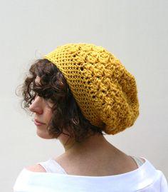 Crochet Hat Slouchy Beanie Hat Textured HDC by crochetgallery 33b07f301717