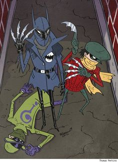 Batman and Robin Vs Riddler
