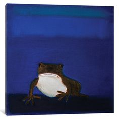 """Mercury Row Frog Painting Print on Wrapped Canvas Size: 18"""" H x 18"""" W x 1.5"""" D"""