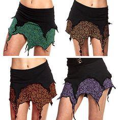 PIXIE TENDRILS SKIRT, pixie skirt, psy trance clothing, plus size fairy skirt