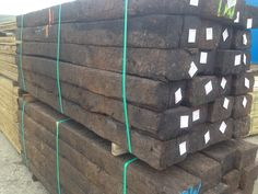 Used Softwood Railway Sleepers. These standard British softwood sleepers are creosote treated and are of very high quality. A major advantage of these sleepers is their uniformity. They are flat and straight, making them ideal for retaining walls, raised flowerbeds, steps and fencing. The creosote treatment makes these sleepers very resilient and long lasting.