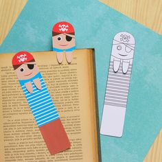 Printable Pirate Bookmarks - DIY Bookmarks - Easy Peasy and Fun