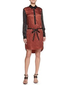 Belted+Combo+Shirtdress+by+Jason+Wu+at+Neiman+Marcus+Last+Call.