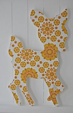 For baby's room. Styrofoam cut out, covered with paper - cheap and cute