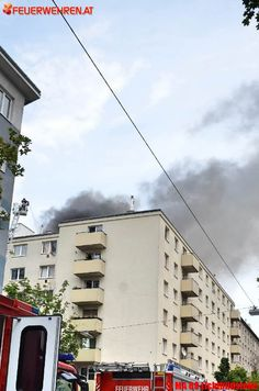 BF Wien: Dachbrand
