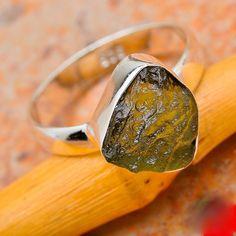 Moldavite Ring by CSRJEWELRYDESIGN on Etsy, $20.00