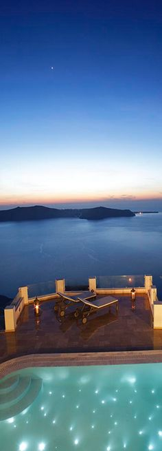 Want my pool to look like that! Above Blue Suites. Vacation Places, Dream Vacations, Vacation Spots, Imerovigli Santorini, Santorini Greece, Santorini Travel, Greece Tourist Attractions, Beautiful Islands, Beautiful Places