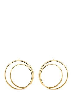 'ANAMORPHOSE' 18K YELLOW GOLD LARGE TWISTED EARRINGS