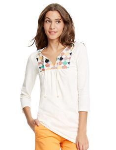 Perfect shirt--the style of it, colors, etc.