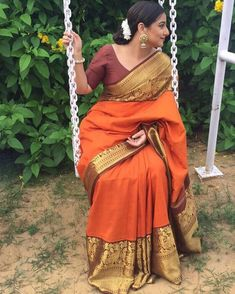 This woman and her sarees 😍