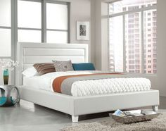 Dallas White King Bed $599.99 Sku:143857 Dimensions::83Wx82Dx50H The Dallas features straight lines and a crisp white finish making this collection distinctly contemporary. Your room wont only have the contemporary look and feel that you wanting with the Dallas collection you can take your design one step further with the bold look and 3-D textures though out the collection. Please visit our website for warranty and benefits.